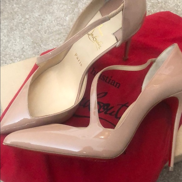 outlet store c113d 788dc Christian Louboutin Jumping 100 Patent Nude